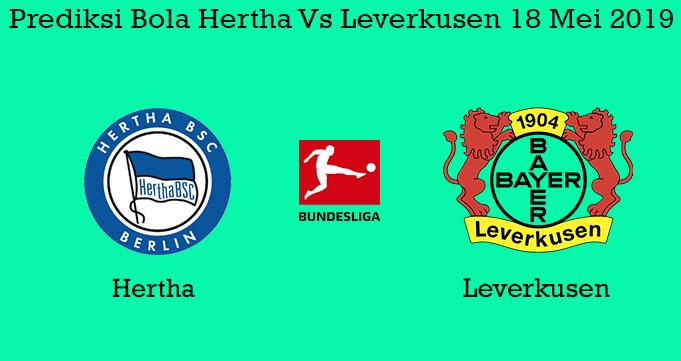 Prediksi Bola Hertha Vs Leverkusen 18 Mei 2019