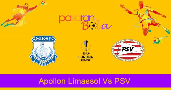 Prediksi Bola Apollon Limassol Vs PSV 30 Agustus 2019