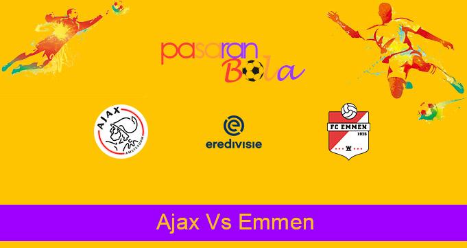 Prediksi Bola Ajax Vs Emmen 2 Mei 2021