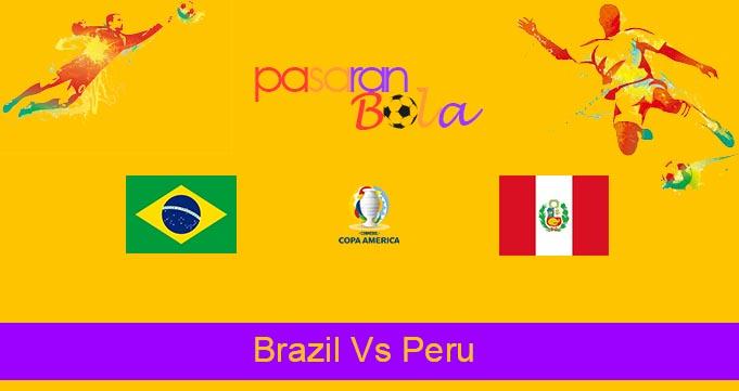 Prediksi Bola Brazil Vs Peru 18 Juni 2021
