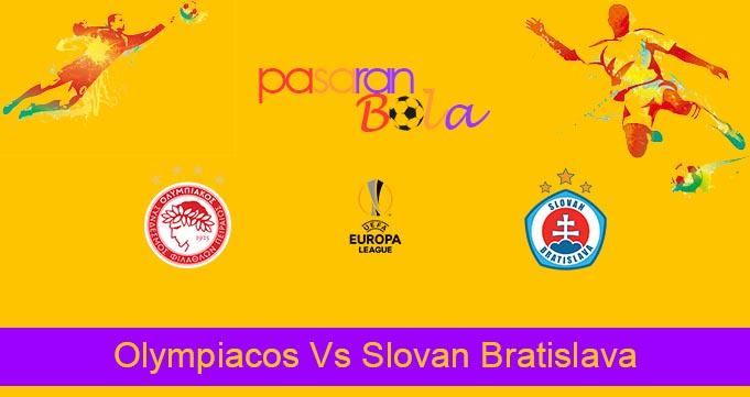 Prediksi Bola Olympiacos Vs Slovan Bratislava 20 Agustus 2021
